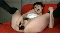 fetish:Japanese girl anal masturbation 32