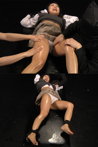 Japanese school girl get tickled 01