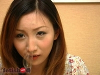 fetish:The girl playing with her runny nose vol.27